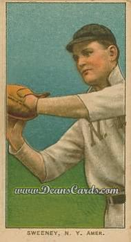 1909 T206 Reprints #477 NY Jeff Sweeney