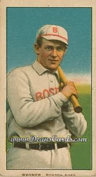 1909 T206 Reprints #497   Heinie Wagner Bat on Left Shoulder