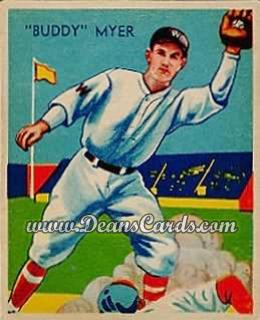 1934 Diamond Stars #4   Buddy Myer