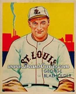 1934 Diamond Stars #13   George Blaeholder