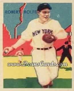 1934 Diamond Stars #29   Red Rolfe