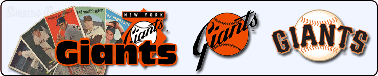 New York & San Francisco Giants Team Sets